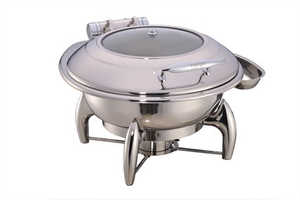 China Round Chafing Dish with Glass Lid