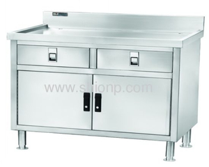 Stainless Steel Two Doors Working Desk