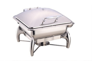 Rectangular Chafing Dish with Glass Lid